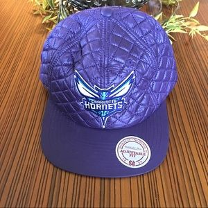 Charlotte Hornets Purple Quilted Snapback Cap